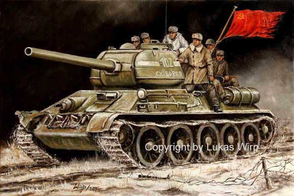 T - 34 / 85 Soviet Army in front ot Warsaw